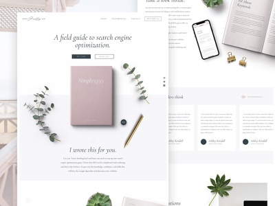 Simply SEO E-book Website ui ux typography ebook product clean minimal landing page