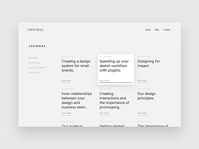 Journal post journal blog ui web grid clean minimal