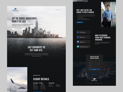Airport Landing Page - ALT header user interface design flight airport ui design typography landing page minimal clean