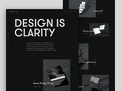 2019 Portfolio Home case study work blog user interface dark web landing page design typography web design minimal ui clean portfolio