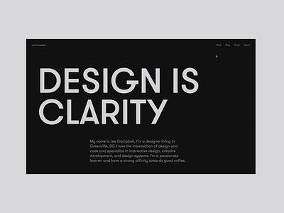 WIP Portfolio Animations case study work portfolio user interface website dark product ux web design web design minimal ui clean