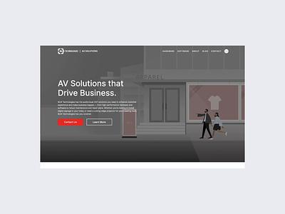 AV Microsite web website user interface logo illustration ux design landing page typography web design minimal ui clean
