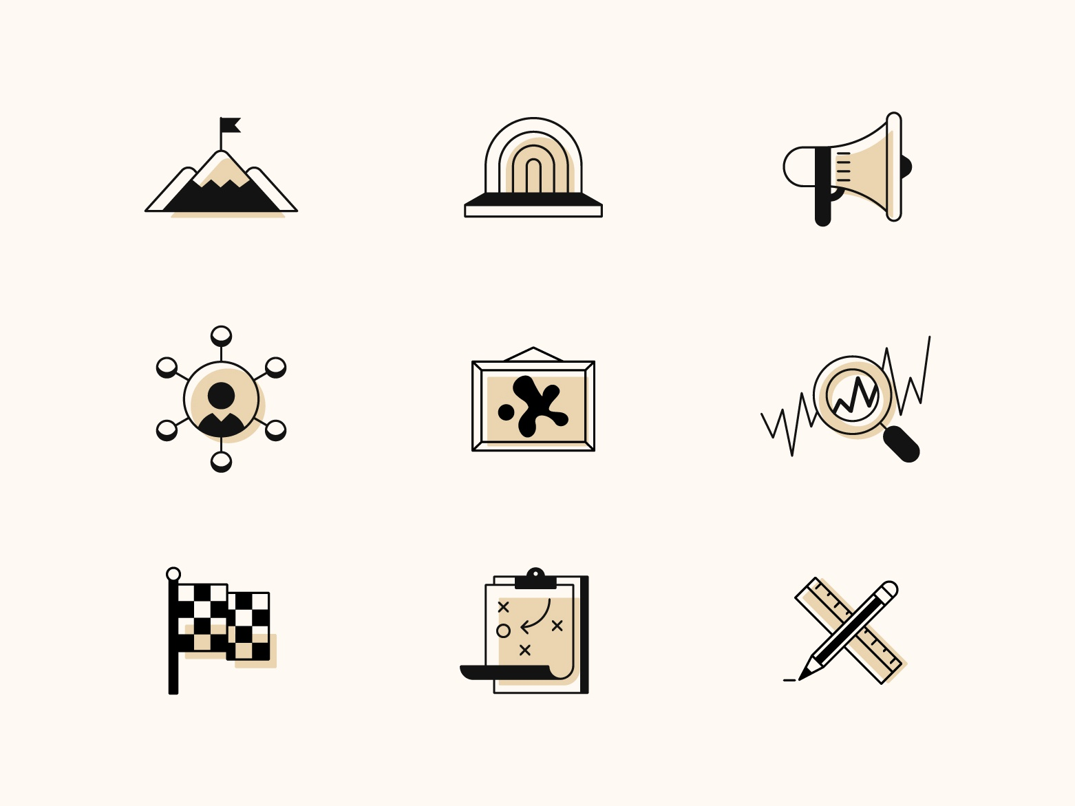 Event Venue Icons icons rental plan art event iconset