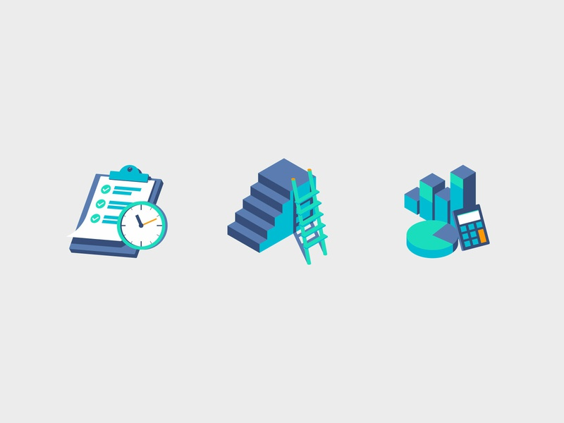 Aces Icons isometric 2.5d 3d finance icons finance icons set icons