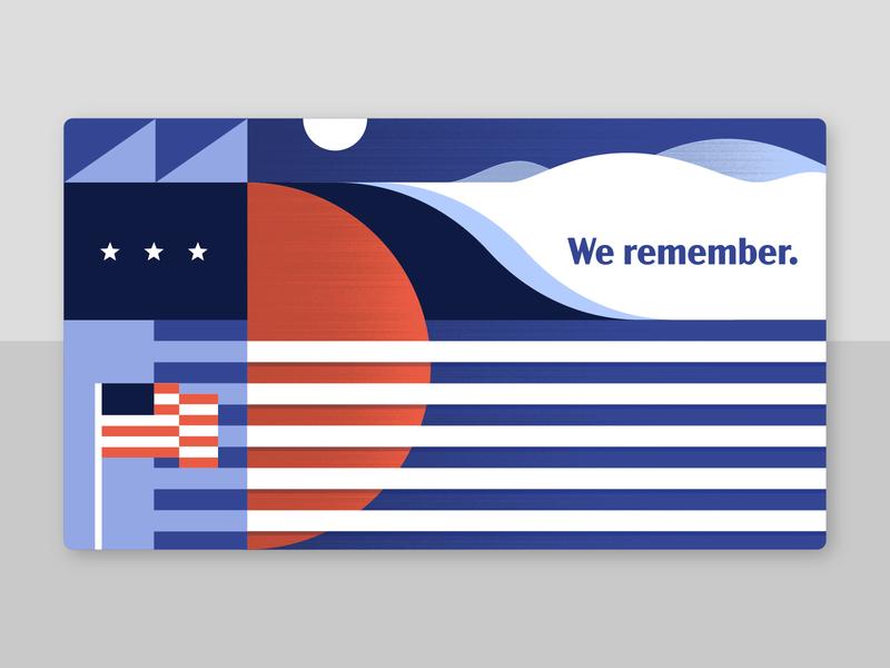 Memorial Day vintage honor flag american flag america memorial day postcard holiday illustration