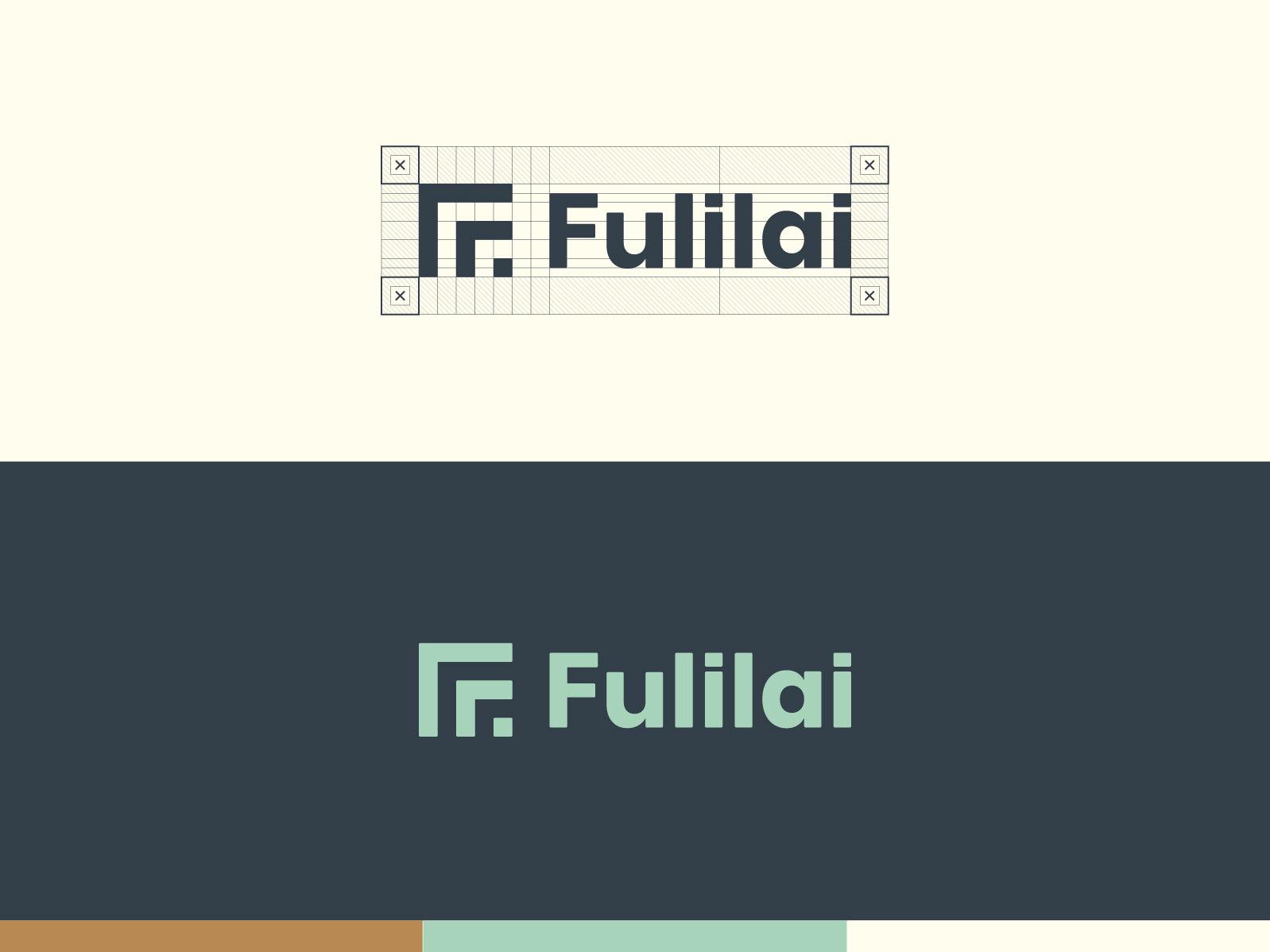 Fulilai Logo grid identity design identity branding logo design