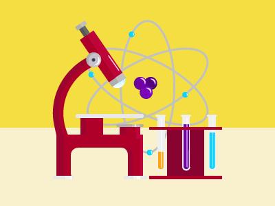 Science  vector icon illustration graphic microscope stem science