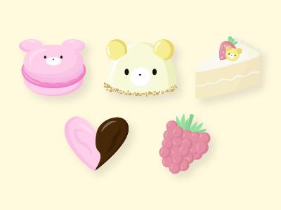 Cubcakes Bakery vector dessert bakery bears flat illustration