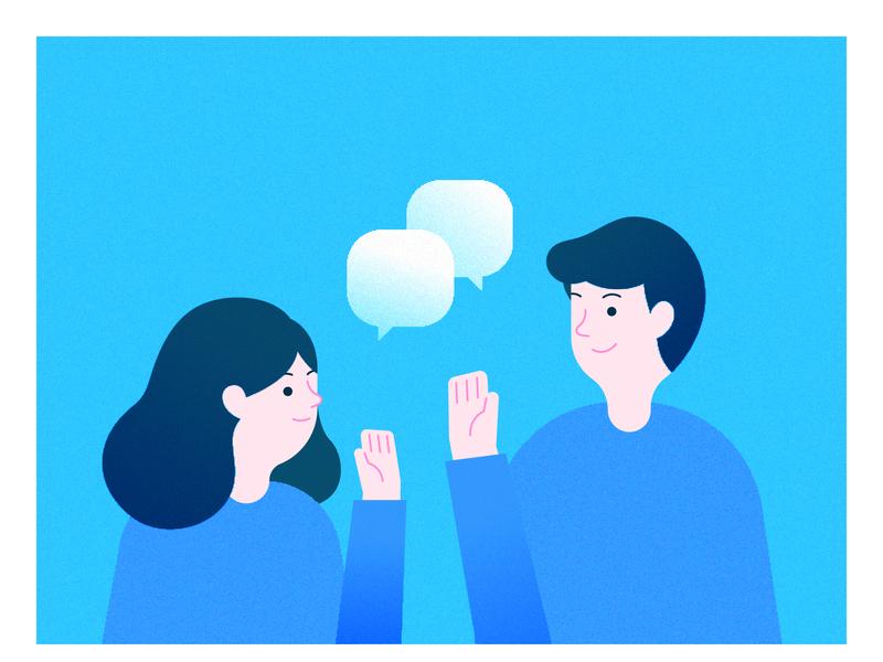 Say Hello friend meet communication illustration hello