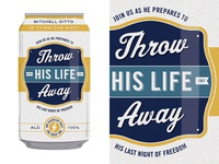 Bachelor Party Beer Can Invite 2