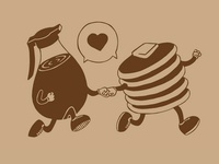 Sticky Love illustration pancakes syrup