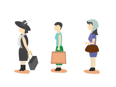 Personas customer service personas illustration women woman