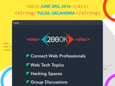 200OK Conference!  marketing poster web conference tulsa
