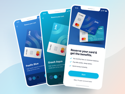 Debit Card - Finance App UI Kit illustration icon clean business graphic design ios mobile app design ux ui transaction payment wallet finance banking card credit debit