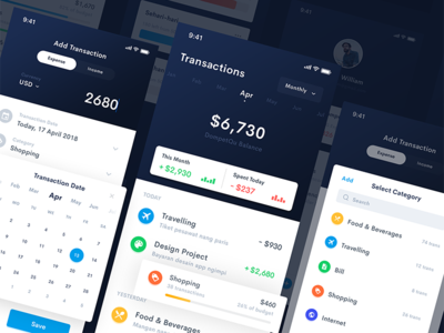 Doppy - iOS Wallet App #2 android ios chart dashboard transaction payment corporate finance budget wallet bitcoin banking