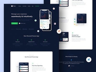 Wallet App Landing Page #2 banking wallet budget finance payment web dashboard homepage ios android landing page crypto