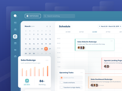 Project Management Schedule working progress progress chart calendar property scheduling task timeline management schedule ios ui illustration design clean minimal dashbaord