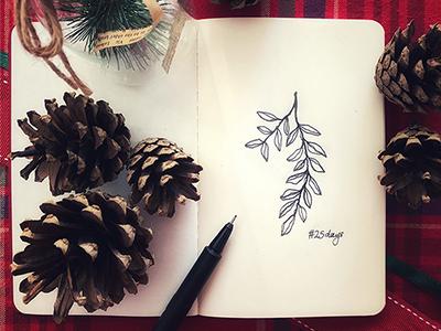 25 days instasketch joy noel decoration art doodle pinecones besttimeoftheyear holidayseason winter sketch 25daystillchristmas