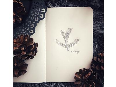 24 days winter sketch pine noel joy instasketch holidayseason doodle decoration besttimeoftheyear art 25daystillchristmas