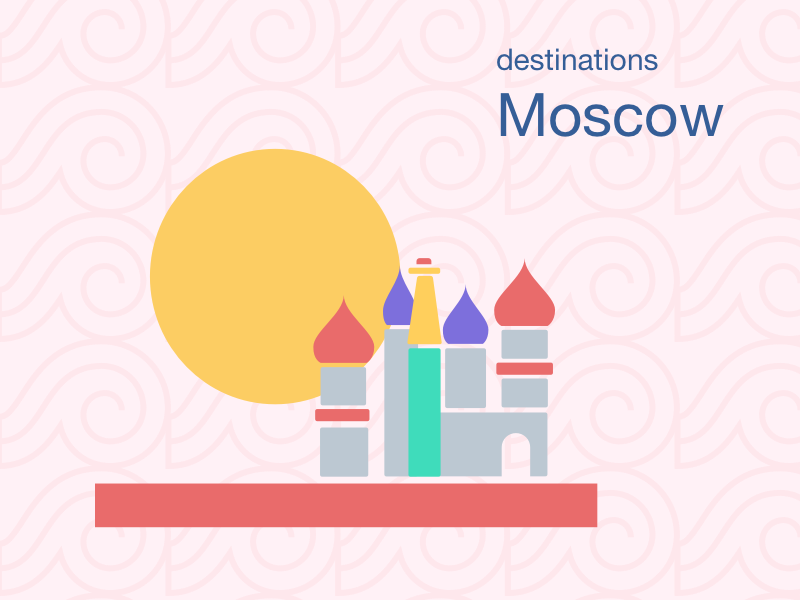 Moscow pattern sun red square moscow travel destination rusia cities landmark asian city