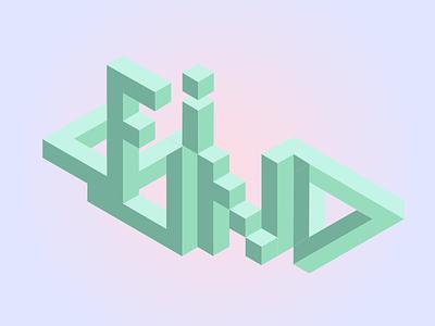 Isometric Typography typography monument valley isometric illustration