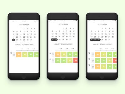Energy Management UI product design uiux ios calendar energy green tech
