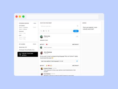 Educoin & iStudy - Tutoring Sesh gamification cryptocurrency tutoring education ui ux web design student portal edtech