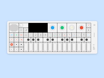 OP1 teenage engineering illustration analog uiux music synth device product design op1