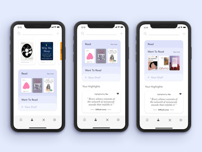 My Library - GoodReads Redesign ui reading kindle amazon redesign product design iphonex ios12 ios11 mobile ux book