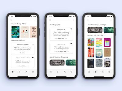 Discover New Books - GoodReads Redesign iphonex ios12 ios11 mobile ui ux ios kindle amazon reading book goodreads