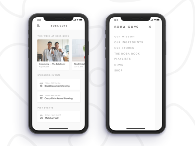 Boba Guys App Concept -- Part 1 events calendar pos food and drink food app milk tea product design ui  ux restaurant app tease coffee boba ios mobile app