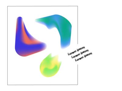 some random blobs 💭 layout unif blobs gradients illustration