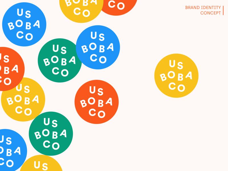 Brand Identity Exploration - US BOBA CO brand identity brand design design boba guys boba