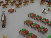 3D Model for The Fresh Market