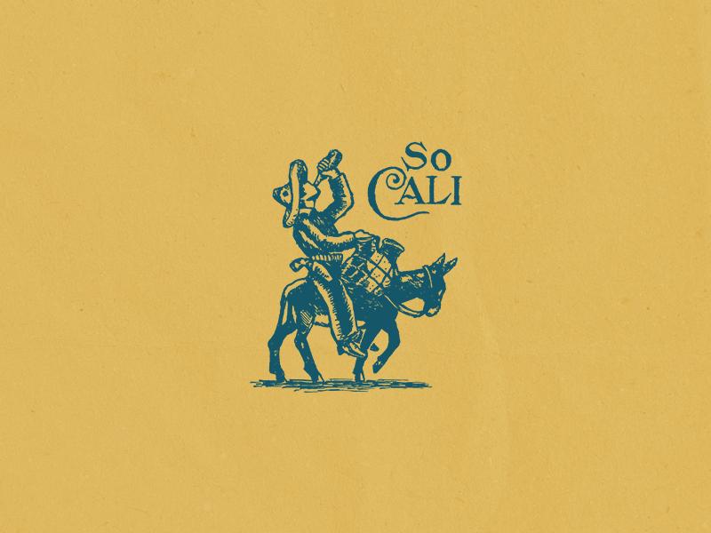 So Cali socal california surf design pen drawing illustration