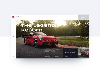 Toyota website redesign modern uiux design ui design uiux redesign toyota main page bright colors main flat minimal web ux website ui