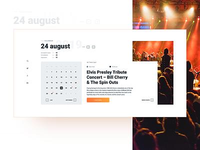 CALENDAR calendar bright colors main page main design flat minimal web ux website ui