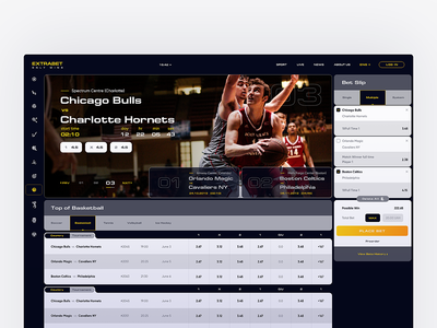 Bets Concept uiux concept sport bets main page web ux website ui