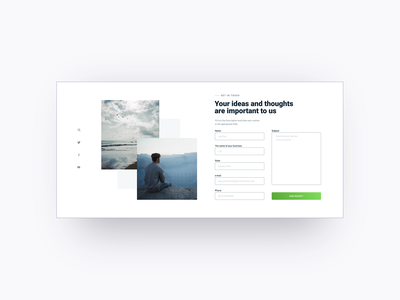 REQUEST FORM uikit inputs input forms form uiux ui design blue and white flat main page minimal web ux website ui