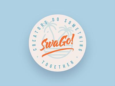SWAGO lettering illustration flat typography design vector caligraphy california vintage design vintage logodesign logo logotype lettermark lettering