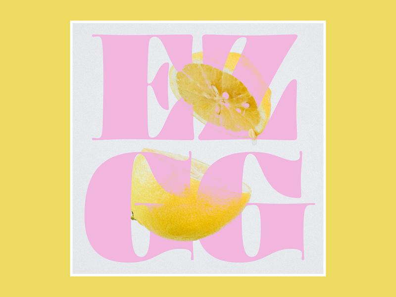 Playlist 01 EZ-GG ohno blazeface pink yellow lemon album cover album cover design album art music playlist