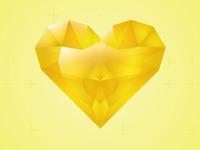 Yellow Gem Heart