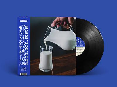 Milkless — Concept album art type artwork digital mock up jazz milk album art vinyl record sleeve design typography