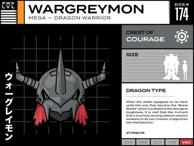 174 Wargreymon vector typography infographic illustration digimon design cartoon character cartoon card anime