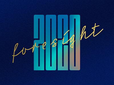 Looking Ahead 2020 font dimensions neonoir blues type texture gradient calligraphy design vector typography