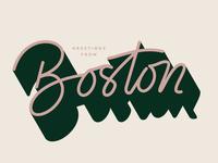 Boston lettering
