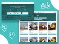 Construction equipment rental web portal
