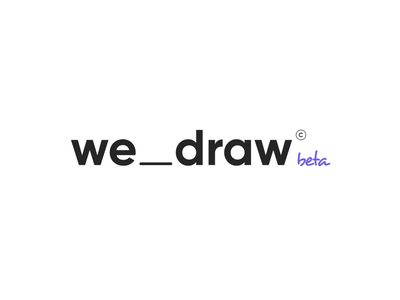 Logotype Wedraw illustration motion design typography vector logo minimal design branding prand wedraw ionovdesign clean animation after-effects