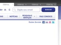 Navbar, search and tabs