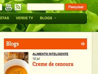 Homepage and navigation